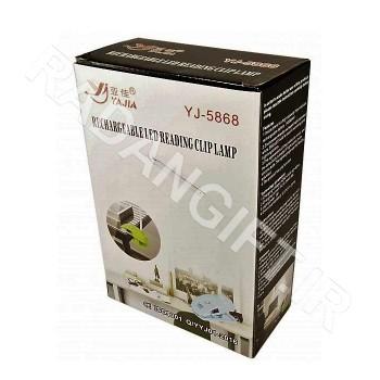 چراغ مطالعه رومیزی گیره دار شارژی تاشو  ASHIK YJ-5868