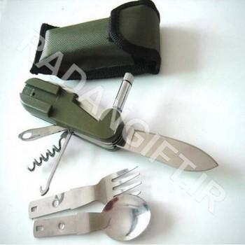 ست قاشق و چنگال و چاقو  چراغ دار سفری تبلیغاتی T7 ابزارالات