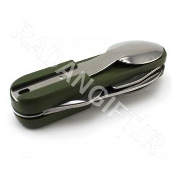 ست قاشق و چنگال و چاقو  چراغ دار سفری T7
