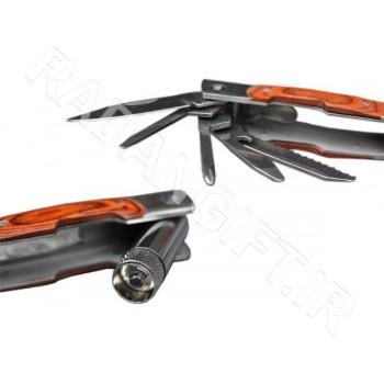 انبردست چراغ دار چندکاره تبلیغاتی ASHIK PLIERS T3 ابزارالات