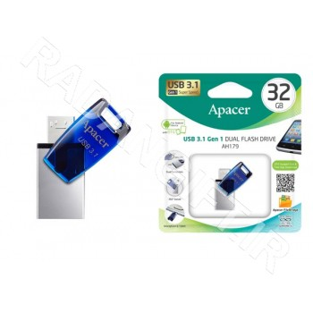 فلش مموری اپیسر موبایل 16 گیگ APACER OTG USB3.1 AH179
