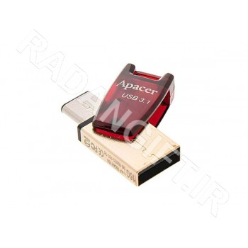 فلش مموری اپیسر موبایل 32 گیگ APACER OTG USB3.1 TYPE-C AH180