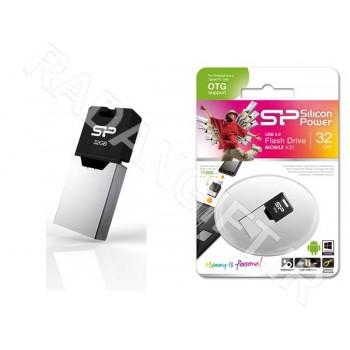 فلش مموری سیلیکون پاور 16 گیگ موبایل SILICON POWER OTG X20