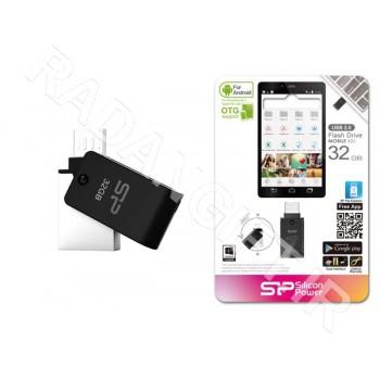 فلش مموری سیلیکون پاور 16 گیگ موبایل SILICON POWER OTG X21