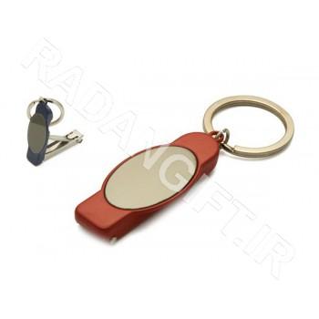 جاکلیدی فلزی ناخن گیر دار ASHIK K107