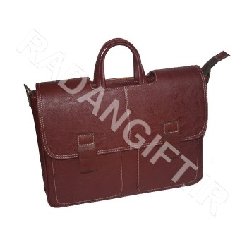 کیف اداری سمیناری چرمی دو دسته آشیک ASHIK B1